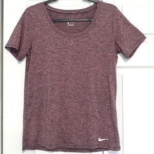 Plum Nike Dri-Fit Short Sleeves Shirt